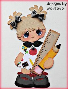 ELITE4U GIRL SCHOOL paper piecing premade scrapbook page die cut album WOLFFEY5:
