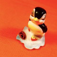 WOW! Fun Ice Skating Penguin Figurine Josef Originals Vintage Estate Rare Sale | eBay