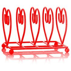 Deluxe Heart Shape Breakfast Table Toast Rack 14 x 11 x Red *** See this great product. (This is an affiliate link) Small Electric Oven, Countertop Oven, Toast Rack, Cooling Racks, Baking Accessories, Food Storage Containers, Rustic Charm, Heart Shapes, Creme