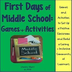 Classroom Management: First Days of Middle School - Games