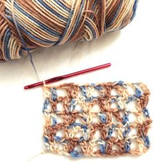 How to Crochet V-Stitch - Crochet Concupiscence ♥LCF-MRS♥ with step by step picture instructions.