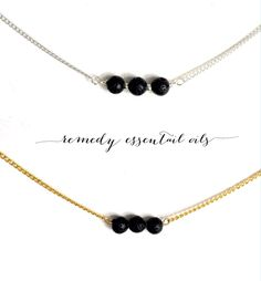 Simple Lava Bead Bar Necklace; Sterling Silver; 18K Gold; Diffuser Necklace; Aromatherapy Jewelry; Essential Oil; Lava Stone by RemedyEssentialOils on Etsy https://www.etsy.com/ca/listing/285601419/simple-lava-bead-bar-necklace-sterling