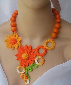 Luty Artes Crochet: Bijuterias em crochê