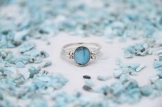 Larimar Amber Ring, Double Sided Ring, Woman Reversible Ring, See Available Sizes, Larimar Ring, Amber Jewelry by TheLarimarShop on Etsy https://www.etsy.com/listing/121249178/larimar-amber-ring-double-sided-ring