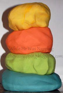 Homemade Play Dough Recipe. Super soft play dough.