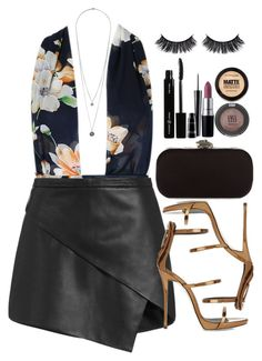 """Sem título #332"" by mika-3 ❤ liked on Polyvore featuring Michelle Mason, House of Harlow 1960, Giuseppe Zanotti, M.A.C, MAC Cosmetics, Topshop, Vincent Longo and Maybelline"
