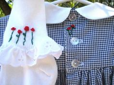 Hand Smocked Hand Embroidered Girls Dress  Size by rabbitwhiskers, $180.00
