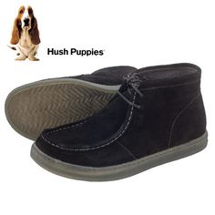 Hush Puppies Men's 8M Black Suede Chukka Boot #HUSHPUPPIES #AnkleBoots
