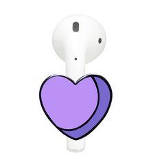 Purple Heart AirPods Attachment - taps by Tuolc