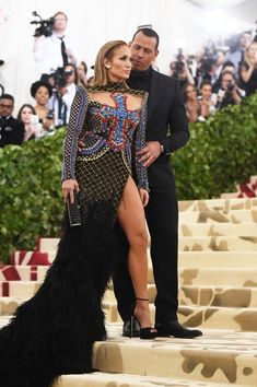 There's No Denying Jennifer Lopez and Alex Rodriguez's Look of Love at the Met Gala