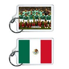 Mexico Soccer Flag 2014 Team Player Acrylic Keychain 2 x 1 | www.balligifts.com