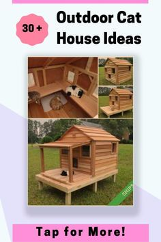 Some with heat for the cold winter weather. Tap to See All 30 Ideas. Outdoor Cat House Diy, Outdoor Cat Shelter, Outdoor Cats, Cat Shelters For Winter, Outside Cat Enclosure, Outside Cat House, Feral Cat House, Winter Cat, Cat Tree Condo