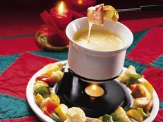 Cheese Fondue With Roasted Vegetable Dippers - Recipe from Betty Crocker
