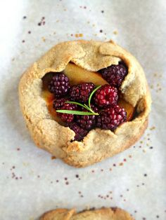 Nectarine & Blackberry Tart