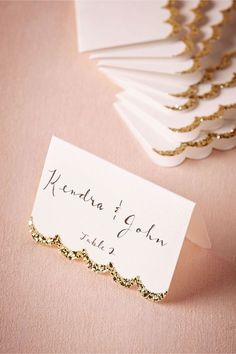 Glitter-Dipped Place Cards (10) in Décor View All Décor at BHLDN