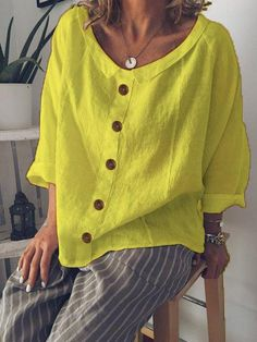 Cheap Womens Tops, Casual Tops For Women, Blouses For Women, Ladies Blouses, Trendy Tops, Shirts & Tops, Women's Tops, Casual Skirt Outfits, Types Of Sleeves