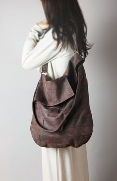 Lucky Brand Vintage Inspired Brown Leather Braided Strap Hobo Bag ...