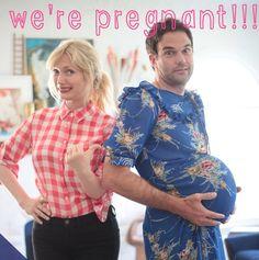 A cute idea for a pregnancy announcement !