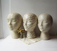 Mannequin Head Hat Display With Base Stand- Your Choice - Dictionary - Sheet… Jewelry Booth, Jewelry Show, Jewellery Display, Hat Display, Display Ideas, Craft Show Booths, Hat Storage, Mannequin Heads, Millinery Hats