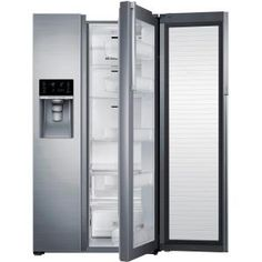 Samsung 215 Cu Ft Side By Side Refrigerator In Stainless Steel