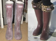 How to clean Hunter Boots.