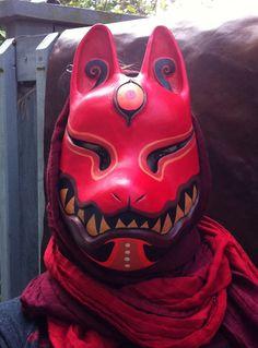 Kitsune mask by ~missmonster on deviantART