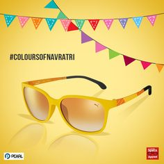 #ColoursOfNavratri It's time to add some sunny yellow to your wardrobe. Don these funky shades and you're sure to make heads turn with the #ColourOfTheDay.