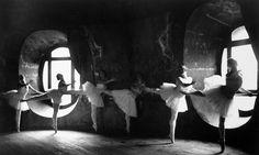Ballerinas at the barre during rehearsal for Swan Lake at Grand Opera de Paris, 1930.
