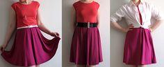 Madam B.C.: Tee-se-itse: Ompele mekko osa 2. Waist Skirt, High Waisted Skirt, Tees, Skirts, Projects, Fashion, Log Projects, Moda, T Shirts