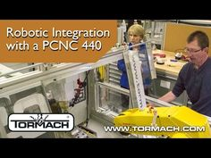 Industrial Robot Integration with a PCNC 440 at Madison College Madison College uses a PLC system to integrate a Fanuc robot with their PCNC 440 for industrial automation education.Peter Dettmer the co-program director of Robotics & Automation at Madison College sees integration like this as only the first steps into using Madison Colleges PCNC 440 and furt @tachyeonz