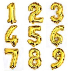 30 inch Gold Number Balloon Aluminum Foil Helium Balloons Birthday Wedding Party Decoration Celebration Supplies #>=#>=#>=#>=#> Click on the pin to check out discount price, color, size, shipping, etc. Save and like it!