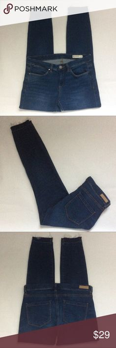 """Drop Hem Skinny Ankle Jeans Blank NYC Skinny Ankle Jeans with a higher rise & drop hem. So flattering! Great condition. No distressing other than the drop hem. Good stretch. Measured laying flat, across and down: 14.5""""W, 8""""Front Rise, 11""""Back Rise, 28""""Inseam Blank NYC Jeans Skinny"""