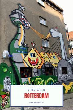 Street art in Rotterdam – Romana Avila Rotterdam, Travel Around The World, Around The Worlds, Pop Art, Graffiti, European History, Travel Tips, Travel Ideas, Amazing Art