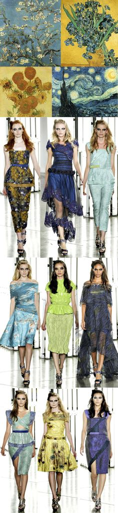 Van Gogh Fashion Show. LOVED IT!