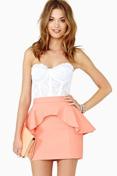 Lera Peplum Skirt by Nasty Gal