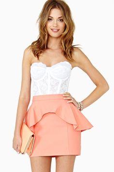 Lera Peplum Skirt by Nasty Gal