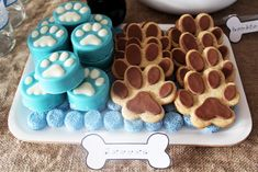 * Ezontho *  Those brown paw cookies are   so.dang.cute.