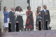President Obama, President Clinton, Oprah Winfrey,  First Lady Michelle Obama and Linda Byrd Johnson Robb and   Caroline Kennedy attend Washington, DC Marks 50 Years Since MLK's 'Dream' Speach - 2013
