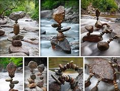 Rock stacking...