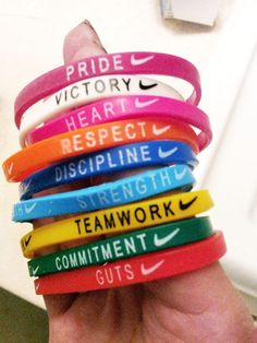 Nike Athlete bracelets - one for every kind of inspiration #JustDoIt #MakeItCount