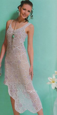 Crochet asymmetrical dress