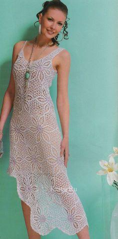 Crochet asymmetrical dress