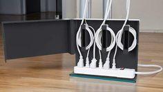 Acabe com a montoeira de fios e cabos debaixo da sua mesa com o Plug Hub, da Quirky   InsideTechno