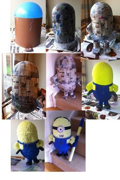 How to make a minion Pinata (Despicable Me)