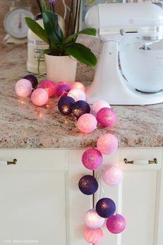 Zestaw VIOLETS Fiolety i purpury... ciepłe i pełne energii. Najchętniej kupowany spośród gotowych zestawów w naszym sklepie. http://www.cottonballlights.pl/onze-favorieten.html