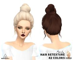 Miss Paraply: Skysims hairs retextured - Sims 4 Hairs - http://sims4hairs.com/miss-paraply-skysims-hairs-retextured-2/