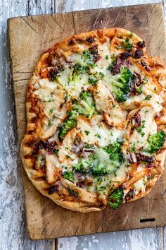 Grilled Chicken and Sundried Tomato Pizza via Real Food by Dad