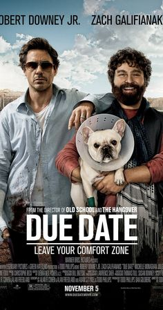 Directed by Todd Phillips.  With Robert Downey Jr., Zach Galifianakis, Michelle Monaghan, Jamie Foxx. High-strung father-to-be Peter Highman is forced to hitch a ride with aspiring actor Ethan Tremblay on a road trip in order to make it to his child's birth on time.