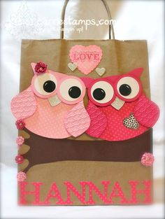 """These owls on a branch would look so cute on a scrap page """"You're a Hoot""""  """"Whoo Loves You?"""""""