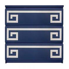 O'verlays Greek Key Double Kit - Ikea - Malm - 3 drawer – dresser